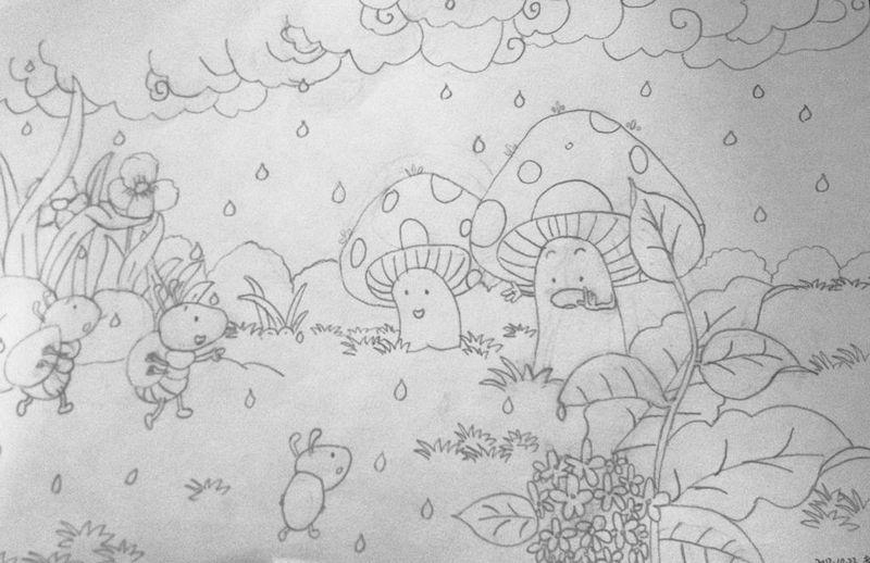 紫薇花简笔画步骤